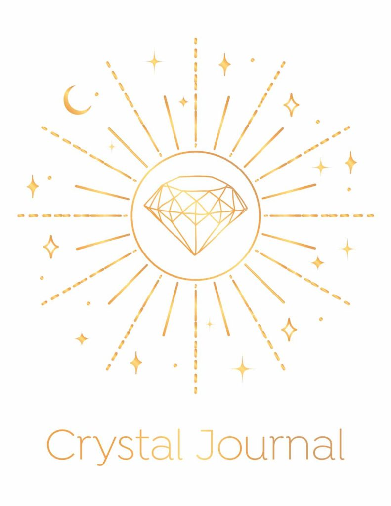 Gold Crystal Journal Cover