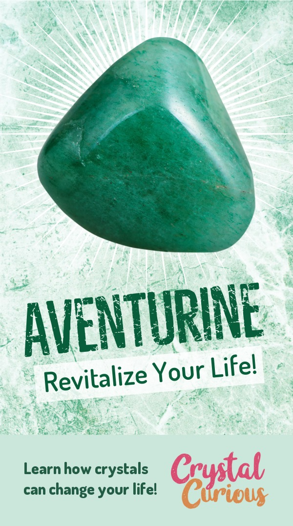 Aventurine Meaning & Healing Properties. Green aventurine is an energizing, revitalizing stone that carries the energy of spring, luck & prosperity. Learn  all the crystal & gemstone properties and crystal healing for beginners at CrystalCurious.com. Create positive energy and learn new age healing techniques with crystal therapy. #crystalhealing #crystals #gemstones #energymedicine #energyhealing #newage #crystalcurious