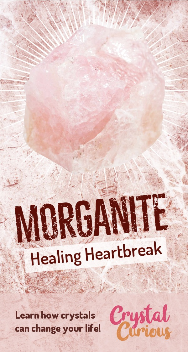 Morganite Meaning & Healing Properties. Morganite helps you tap into Divine Love, heal heartbreak, and transform grief into wisdom & compassion. Learn  crystal healing for beginners & all the gemstones properties at CrystalCurious.com. Create positive energy and learn new age healing techniques with crystal therapy. #crystalhealing #crystals #gemstones #energymedicine #energyhealing #newage #crystalcurious