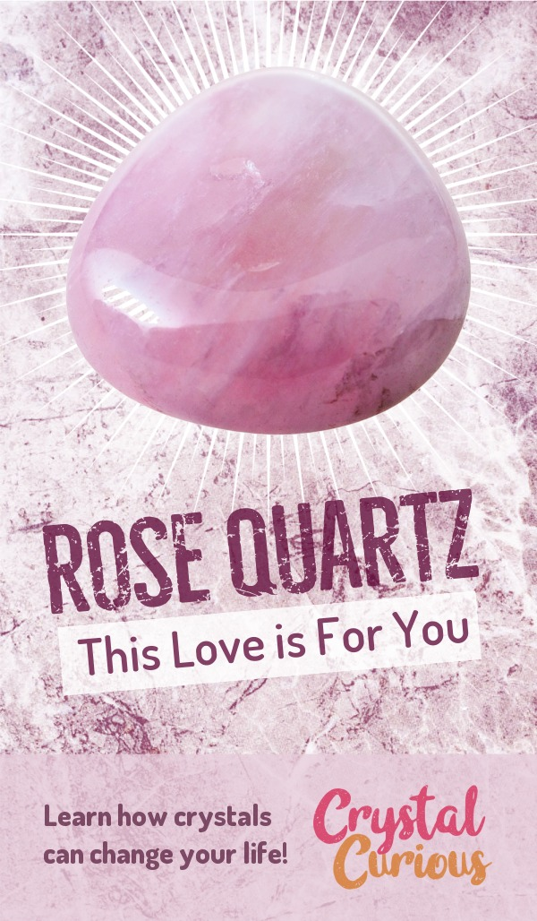 Rose Quartz Meaning & Healing Properties. Rose quartz helps heal a broken heart so you can be ready to let love in again. Learn  crystal healing for beginners & all the gemstones properties at CrystalCurious.com. Explore new age spirituality and learn crystal therapy and chakra healing. #crystalhealing #crystals #gemstones #energymedicine #energyhealing #newage #crystalcurious