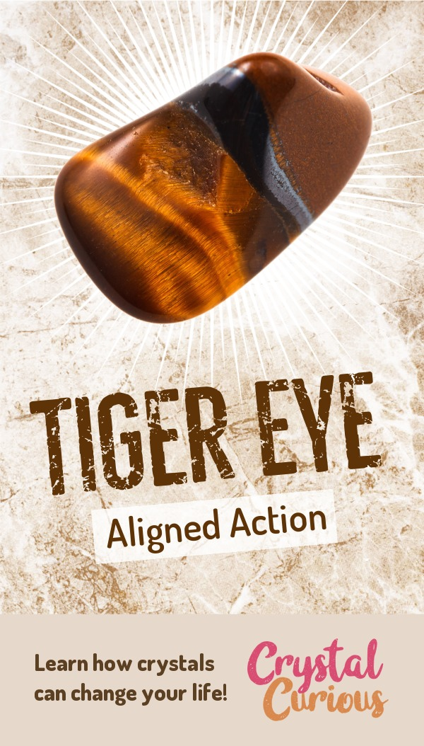 Tiger Eye Meaning & Healing Properties. Tiger Eye promotes resilience in the face of adversity and endurance both physically and emotionally. Learn  about healing crystals for beginners and gemstones properties at CrystalCurious.com. Find your energy muse & crystal companion for healing & positive energy. #crystalhealing #crystals #gemstones #energymedicine #energyhealing #newage #crystalcurious